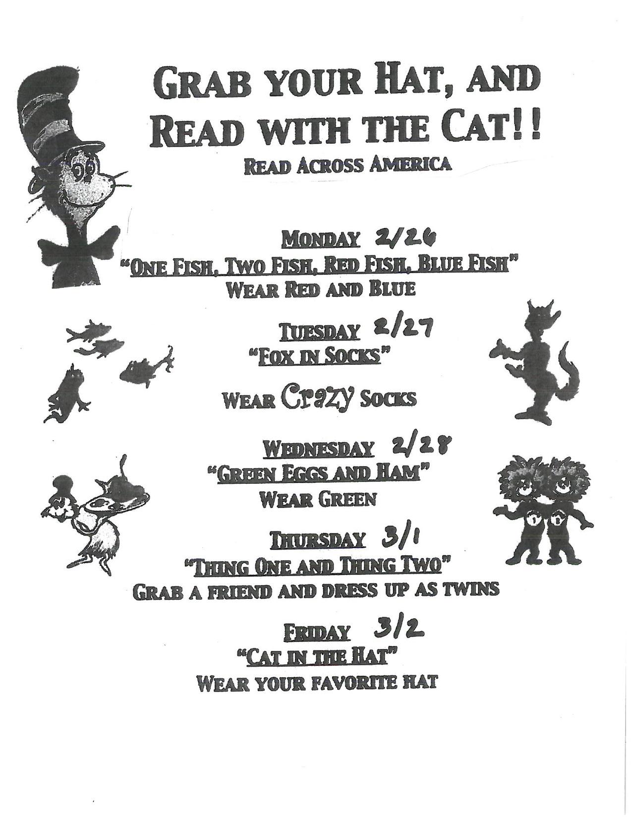15edfe22 Read Across America | Thunder Hill Elementary School